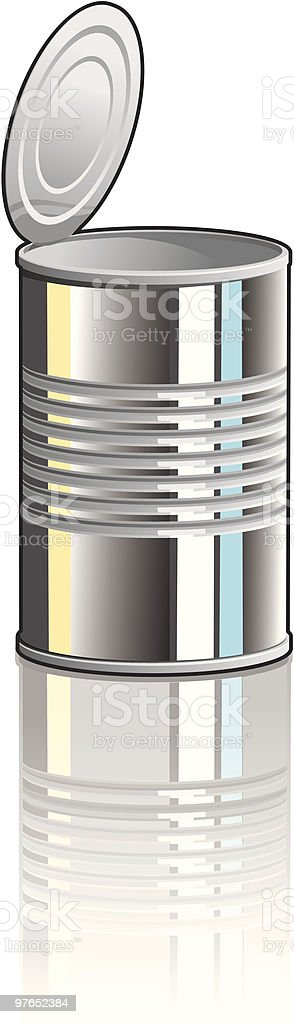 Tin Can with Lid vector art illustration