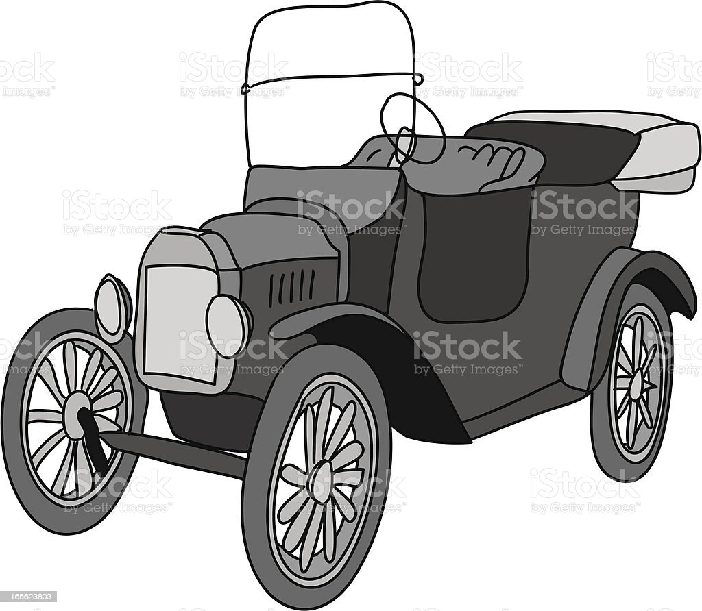 Tin Lizzie royalty-free stock vector art