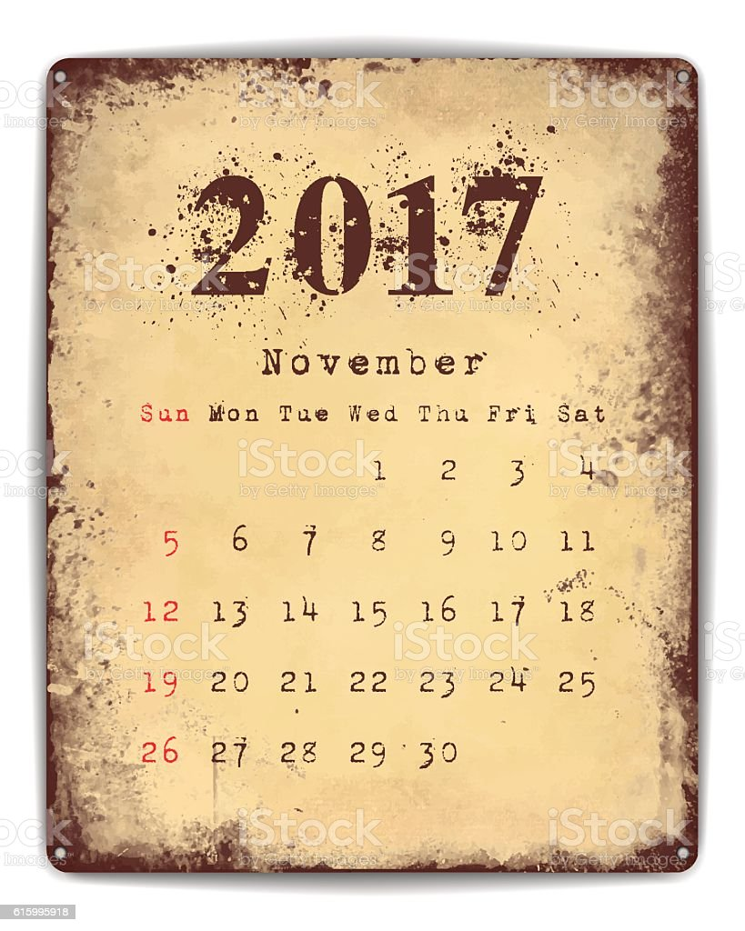 Tin Plate Calendar vector art illustration