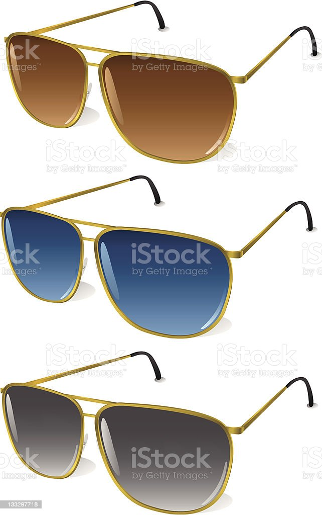 Tinted Aviator Sunglasses [vector] vector art illustration