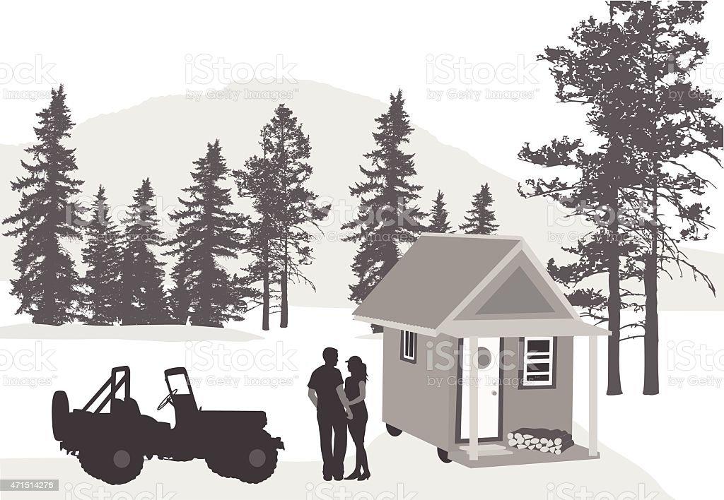 Tiny House Movement vector art illustration