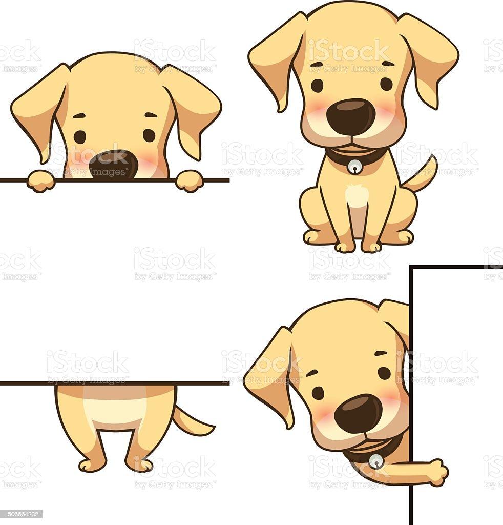 Tiny labrador sign board royalty-free stock vector art