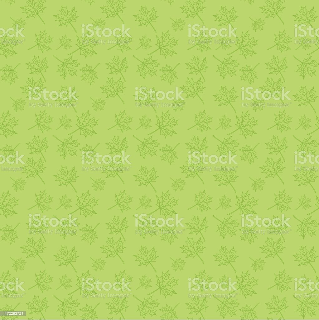 Tiny Leaf Seamless Pattern royalty-free stock vector art