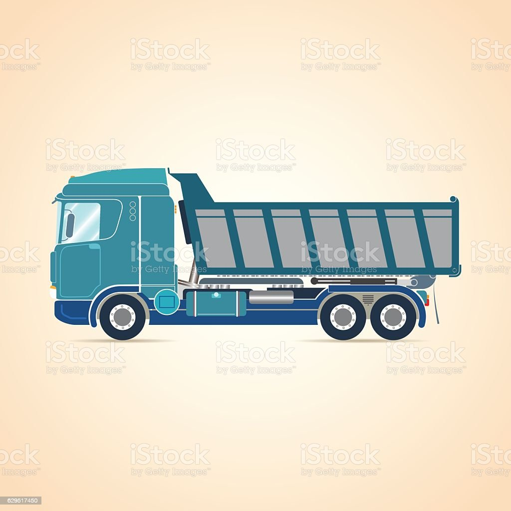 Tipper. Truck. Vector illustration. vector art illustration