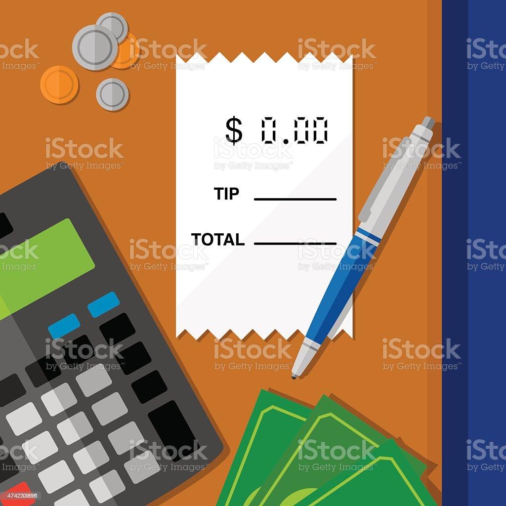 Tipping vector art illustration