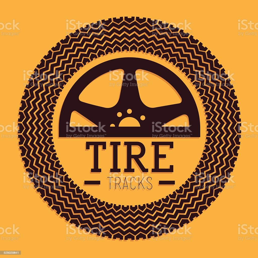 Tire design vector art illustration