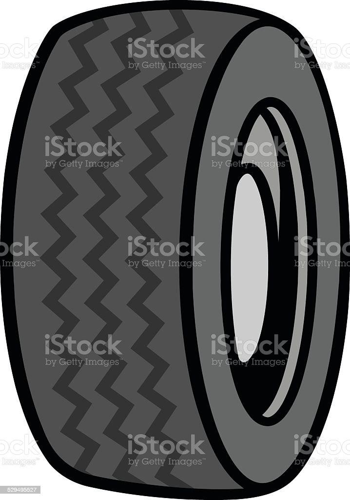 Tire Icon vector art illustration