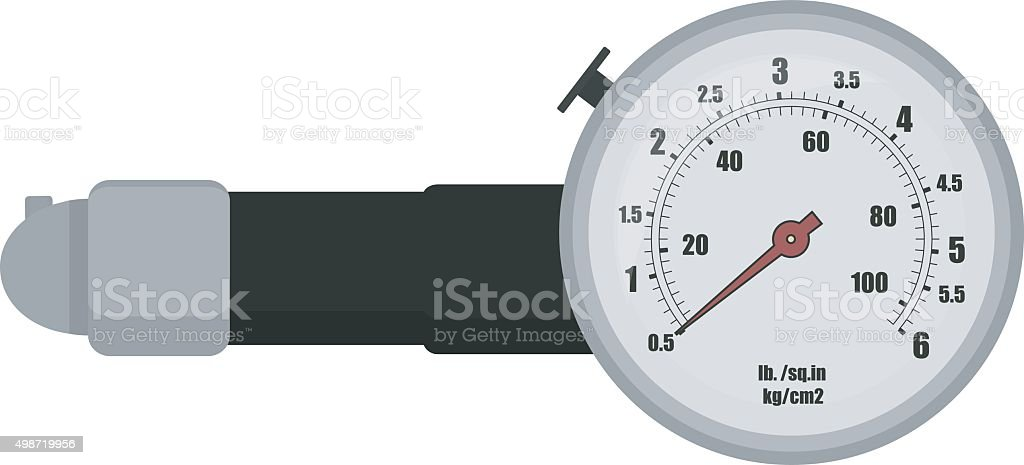 Tire pressure gauge illustration vector art illustration