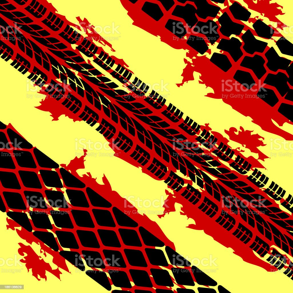 tire prints royalty-free stock vector art