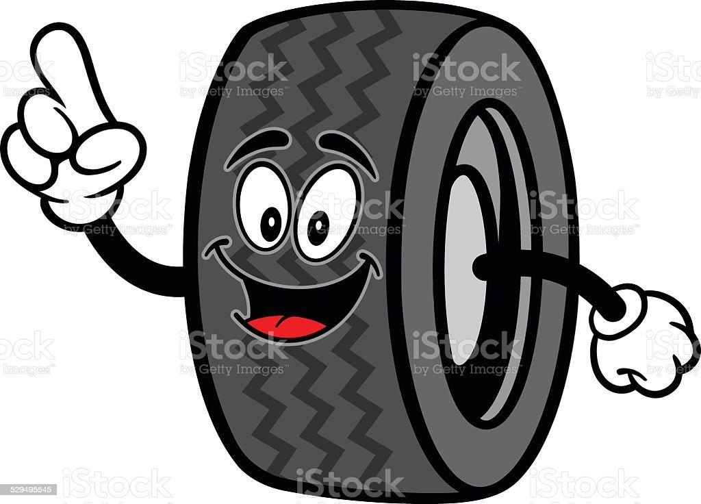 Tire Talking vector art illustration