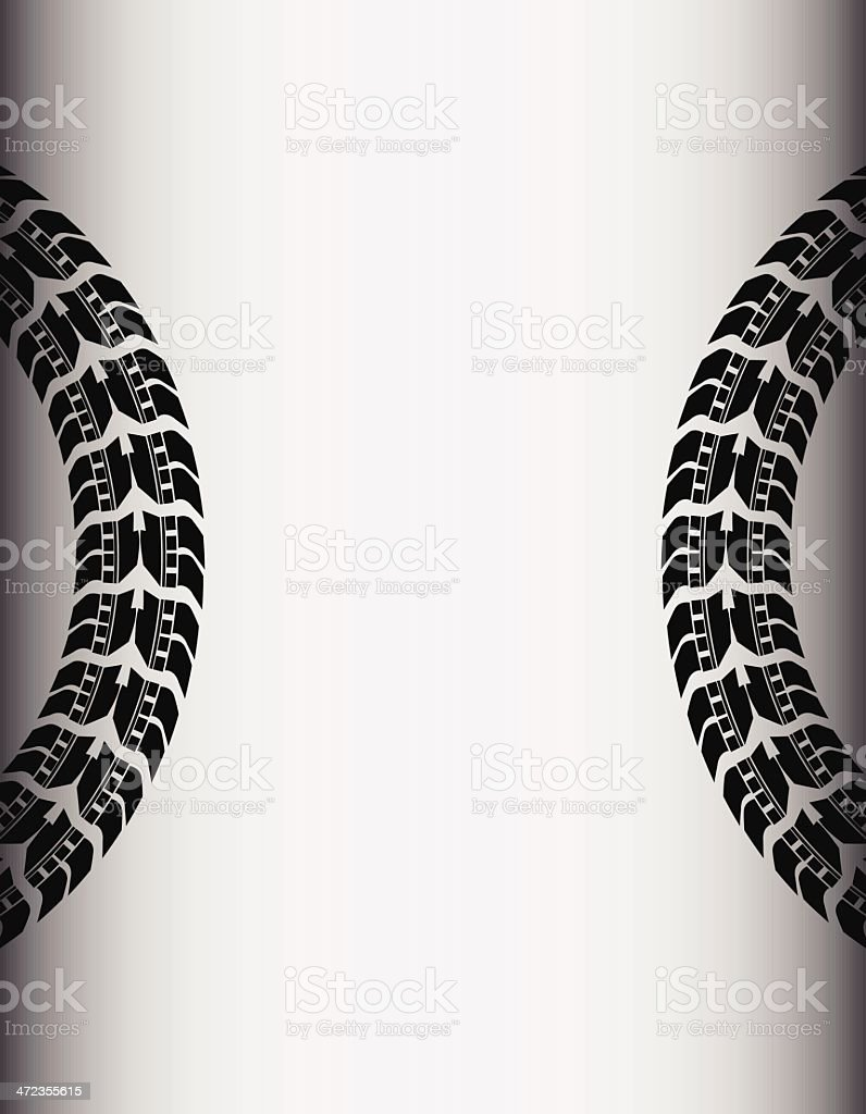 tire track background royalty-free stock vector art
