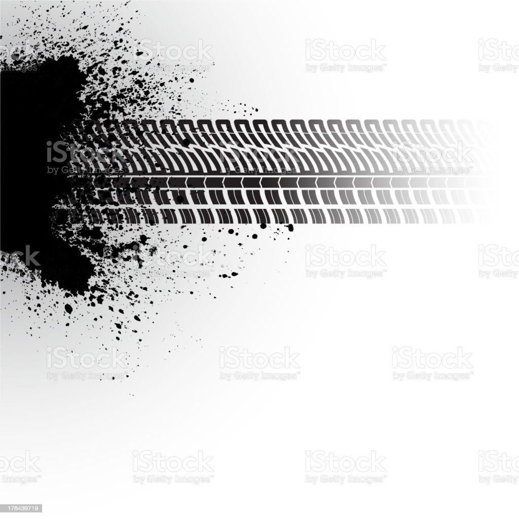 Tire track banner royalty-free stock vector art