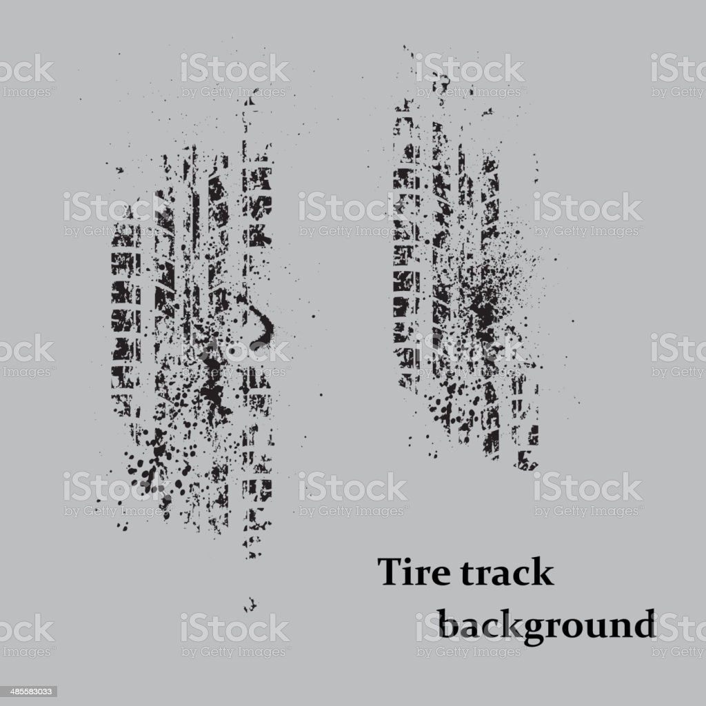 Tire track on gray royalty-free stock vector art