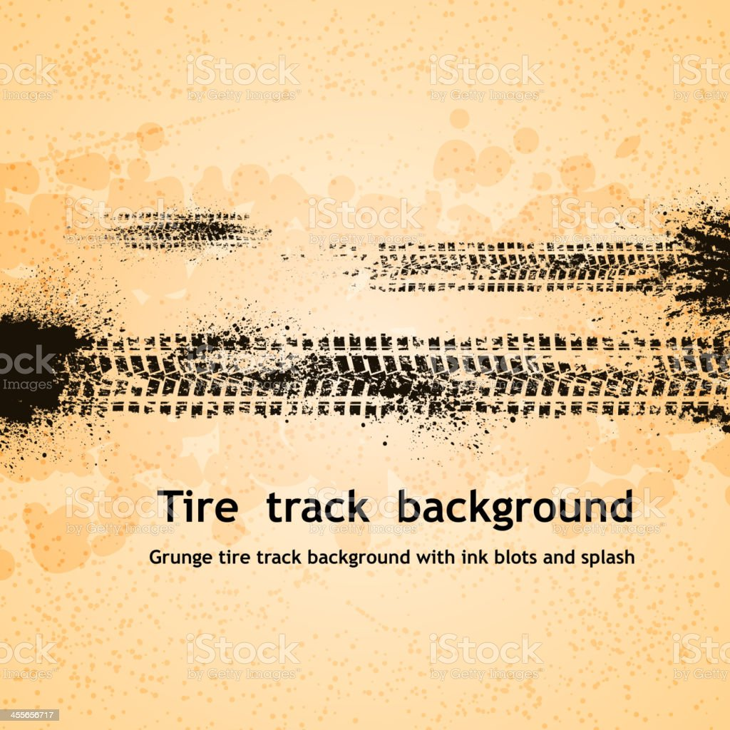 A tire track themed background vector art illustration