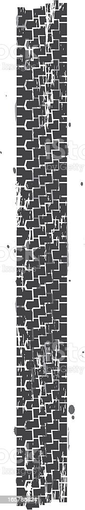 Tire Track royalty-free stock vector art