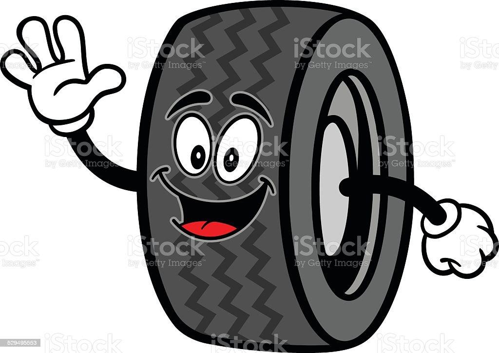 Tire Waving vector art illustration