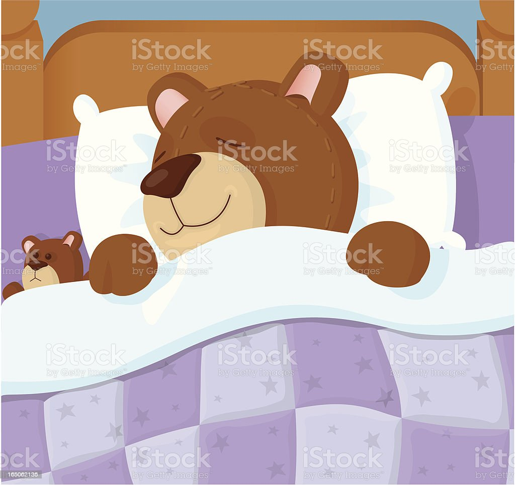 Tired Bear royalty-free stock vector art