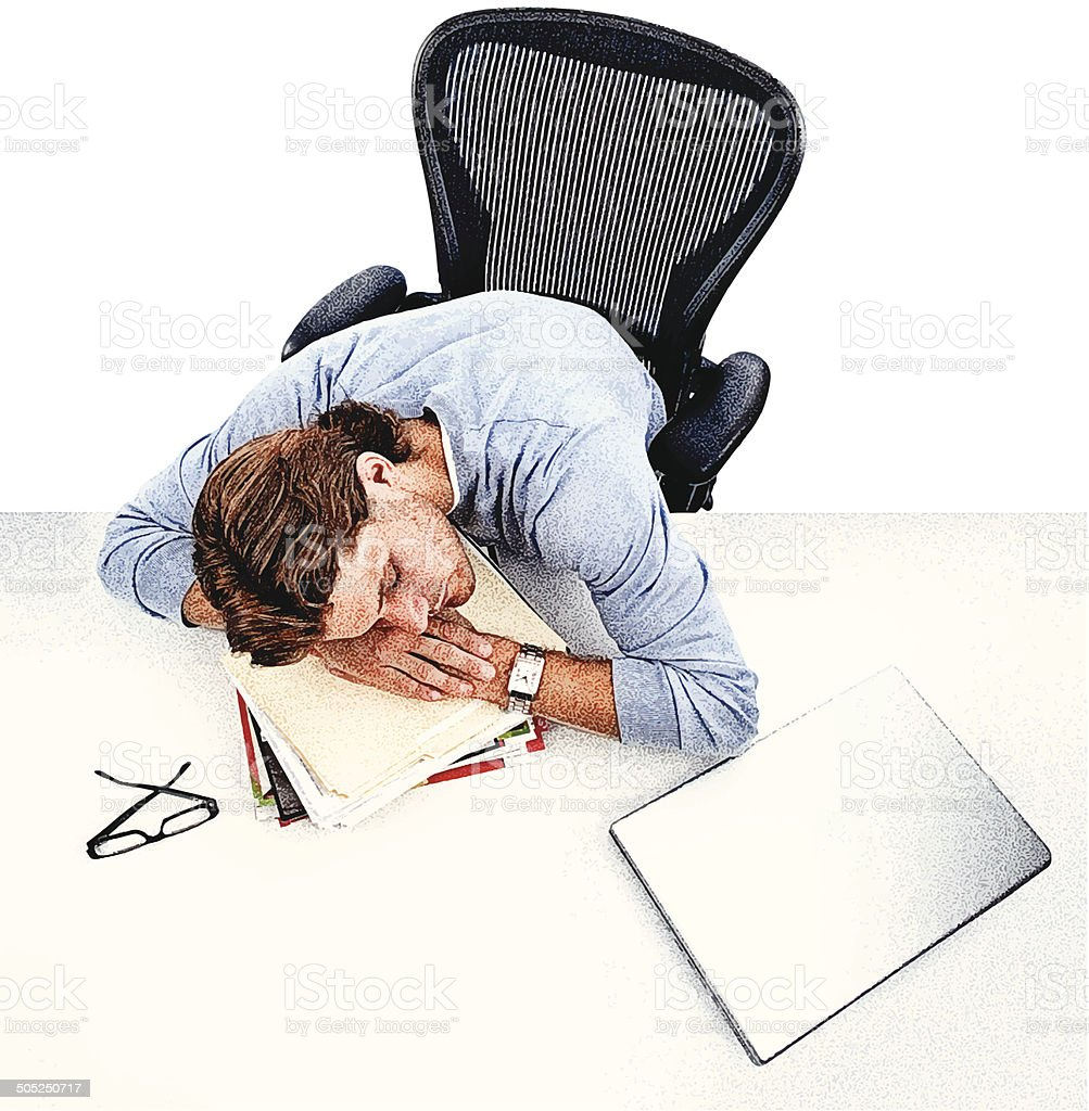 Tired Businessman royalty-free stock vector art