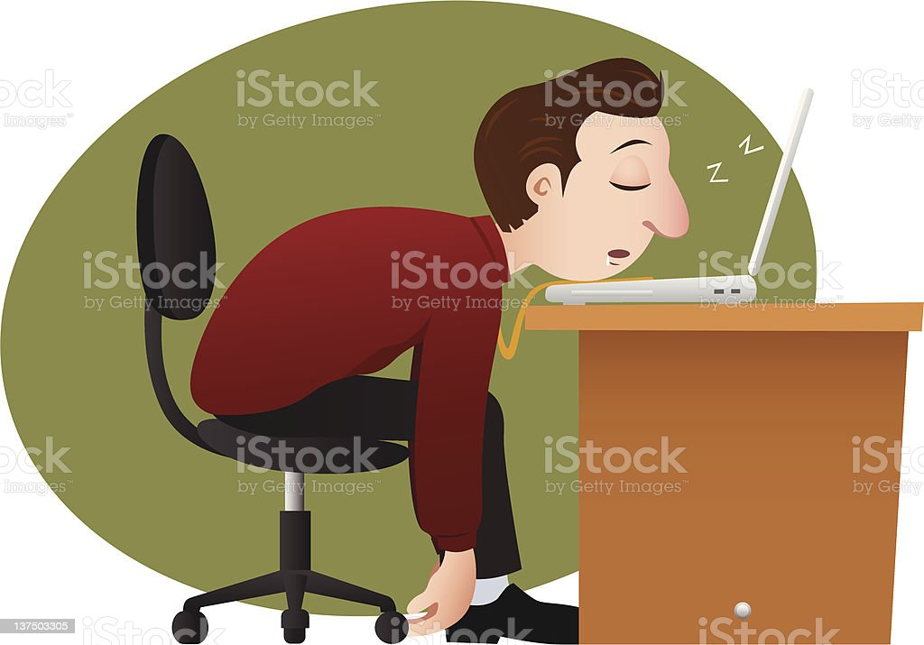 tired bussinesman royalty-free stock vector art