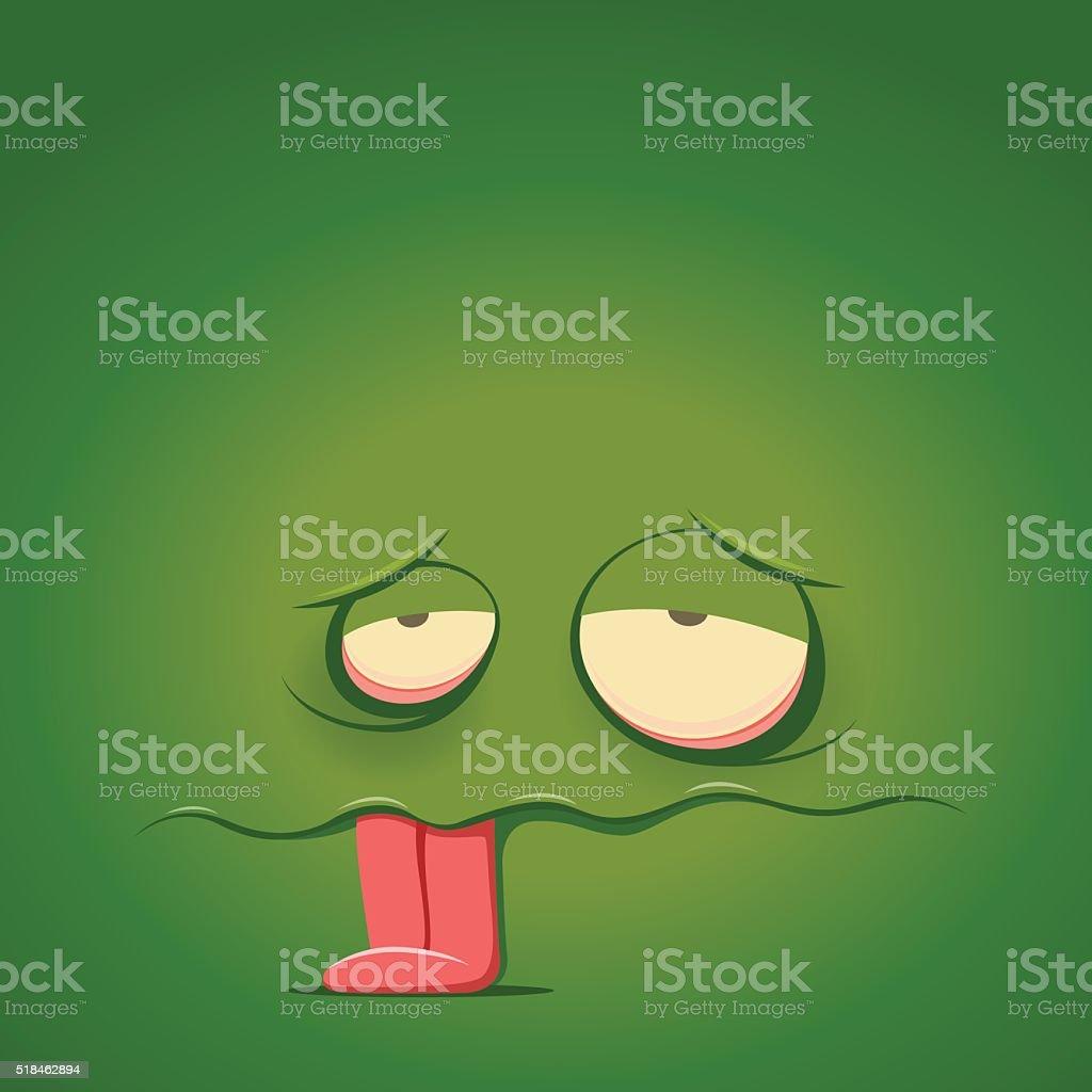 Tired emoticon - stock vector illustration. vector art illustration
