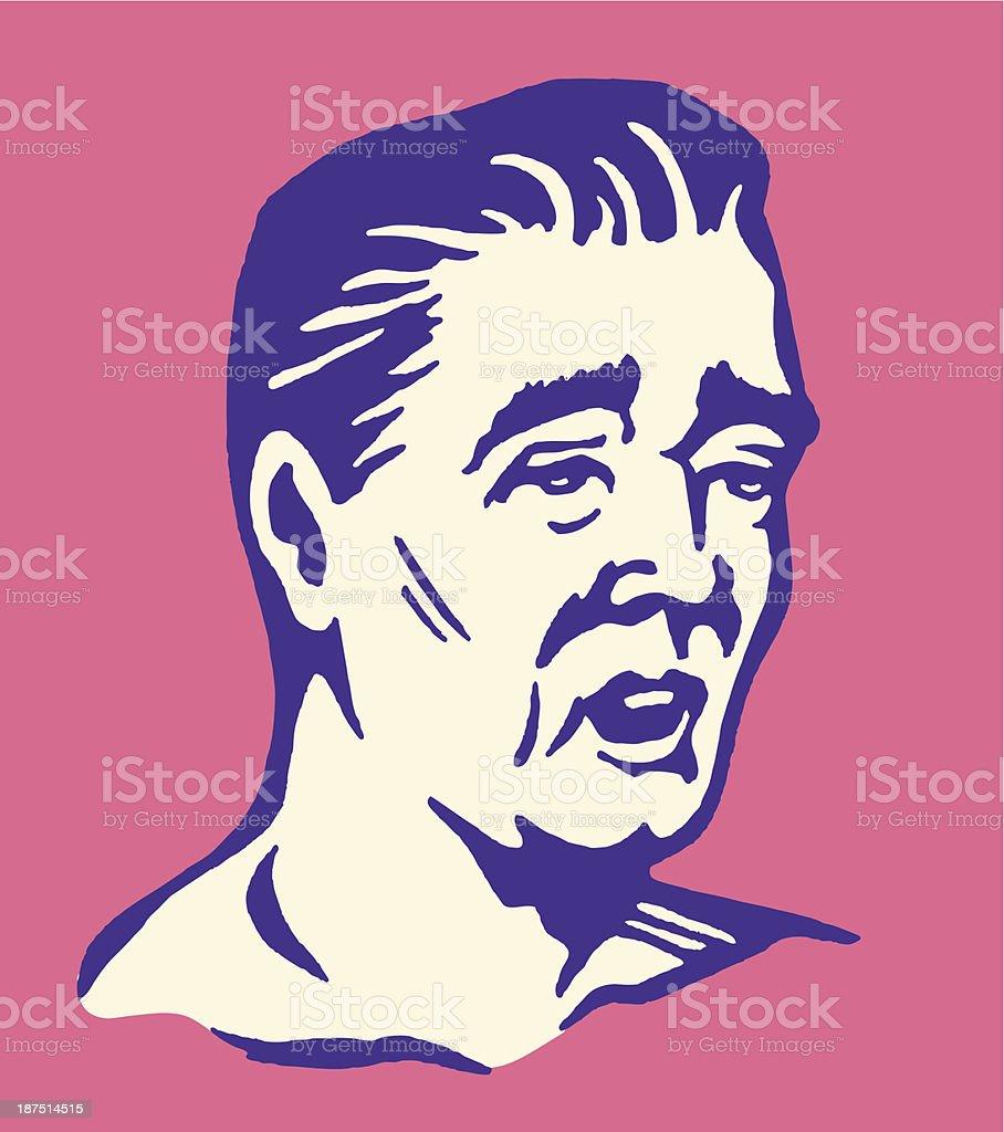 Tired Man royalty-free stock vector art