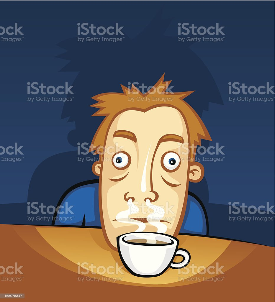 tired... need coffee royalty-free stock vector art