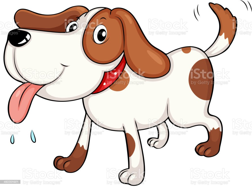 tired young dog royalty-free stock vector art
