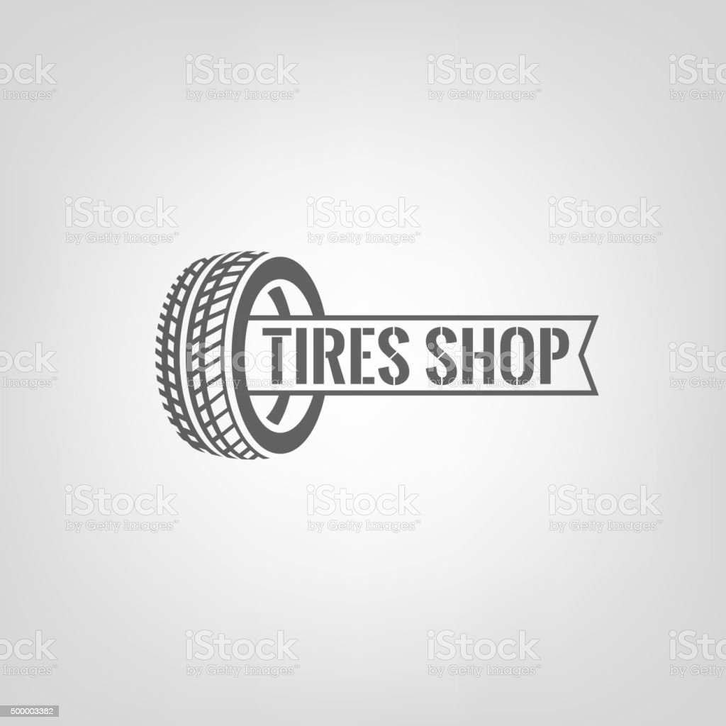 Tires Shop Logo-01 vector art illustration