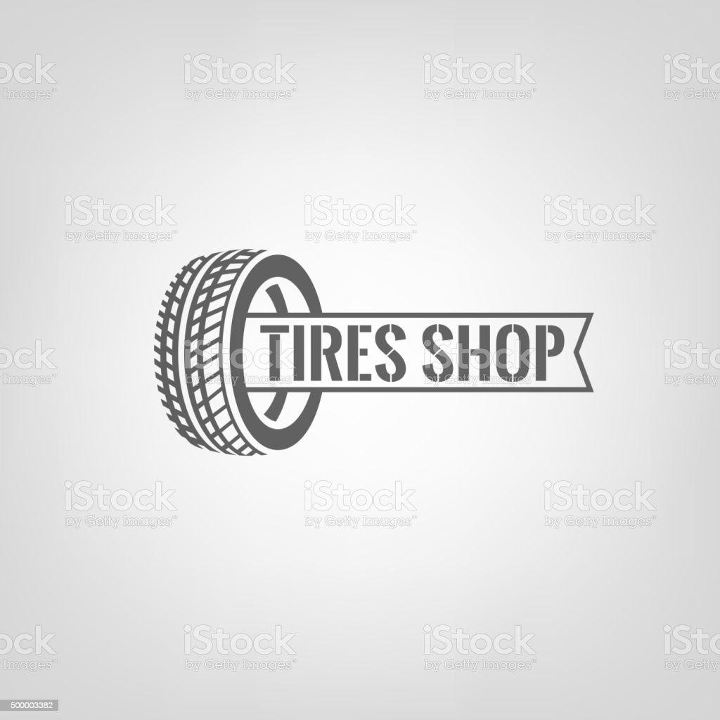 Tires Shop Logo-01 vector art illustration