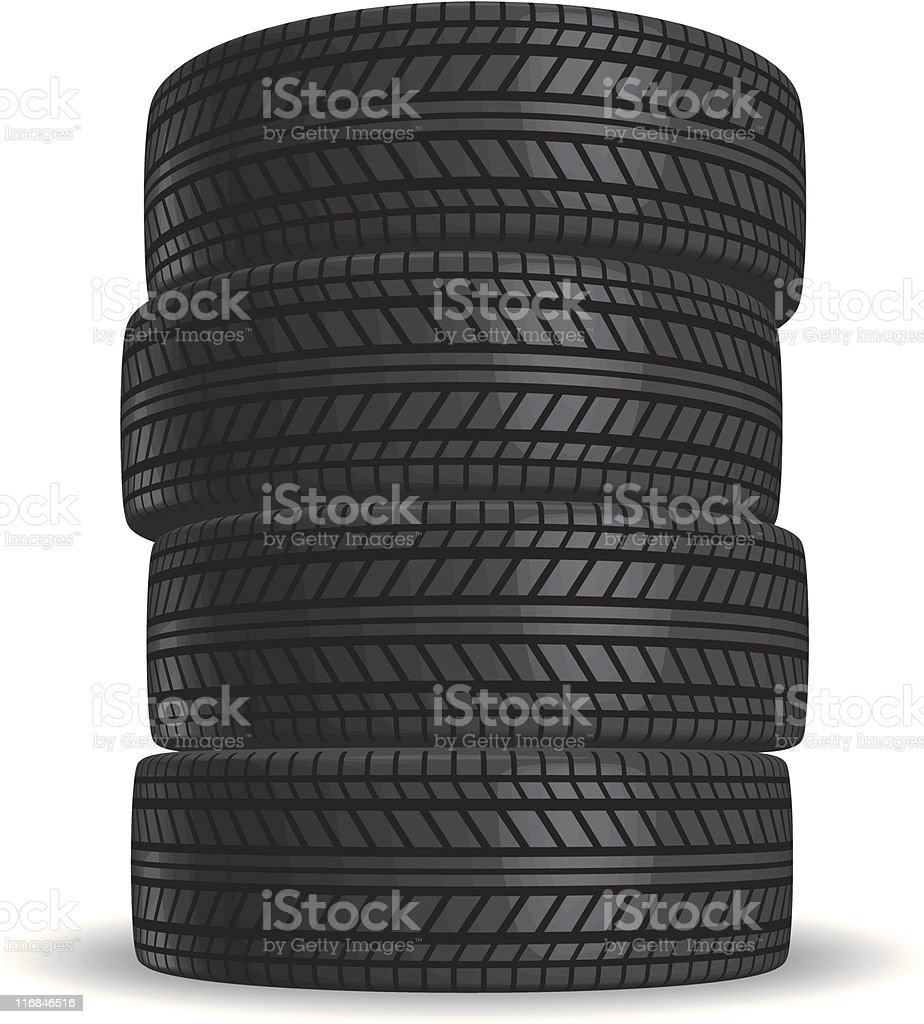 Tires Stacked vector art illustration