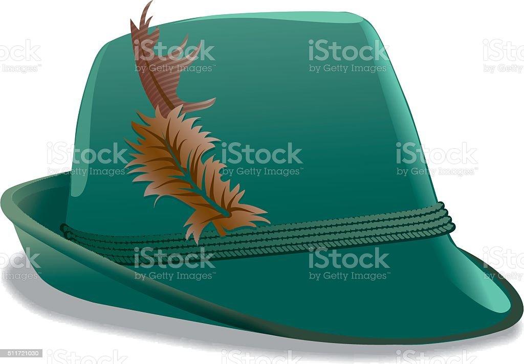 tirol hat vector art illustration