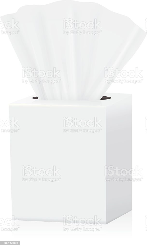 Tissue box mock up vector art illustration