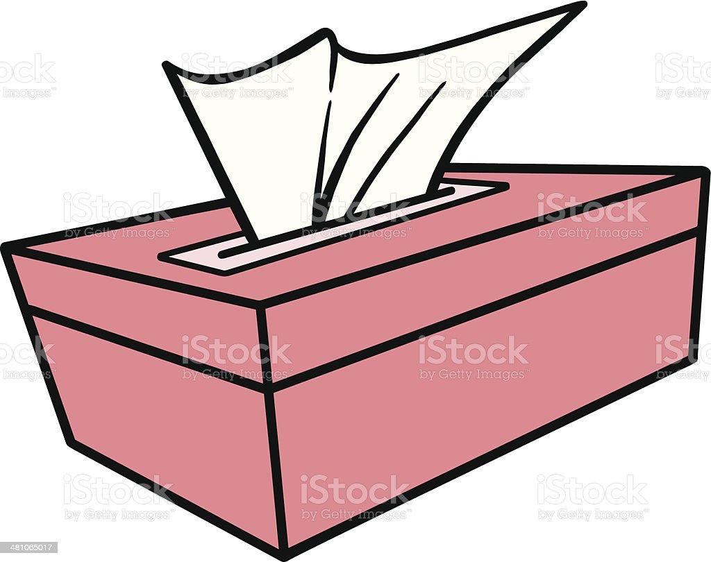 Tissue Box vector art illustration