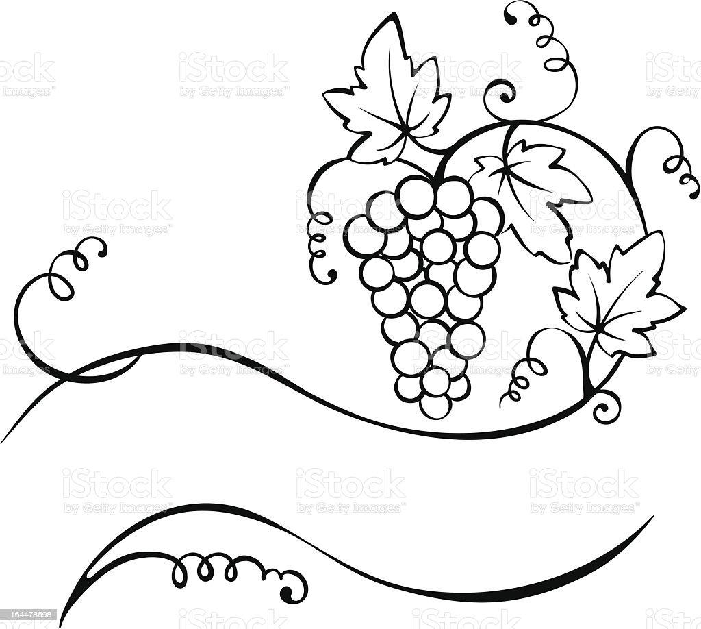 Title - the vine vector art illustration