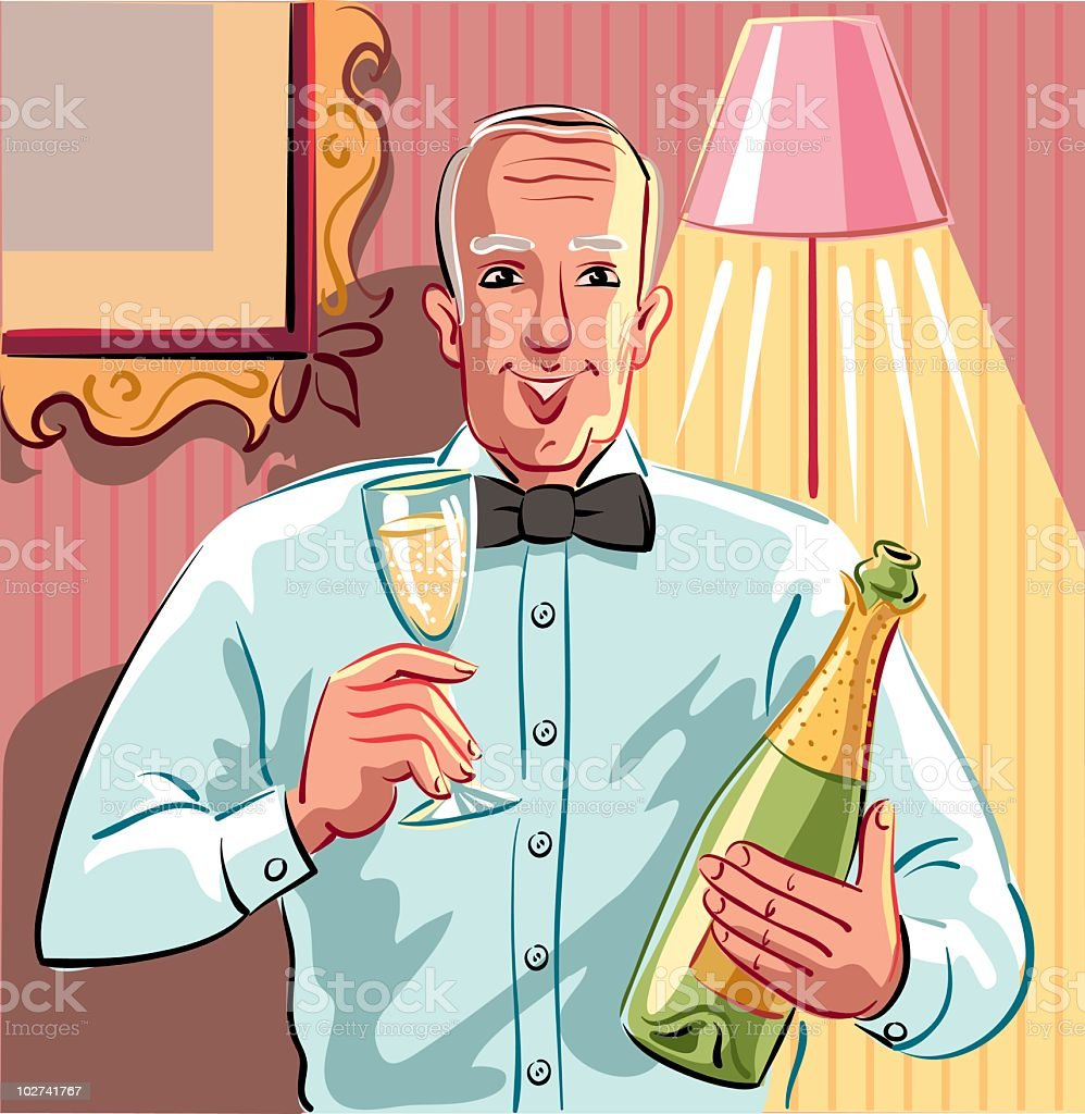 To drink a toast royalty-free stock vector art