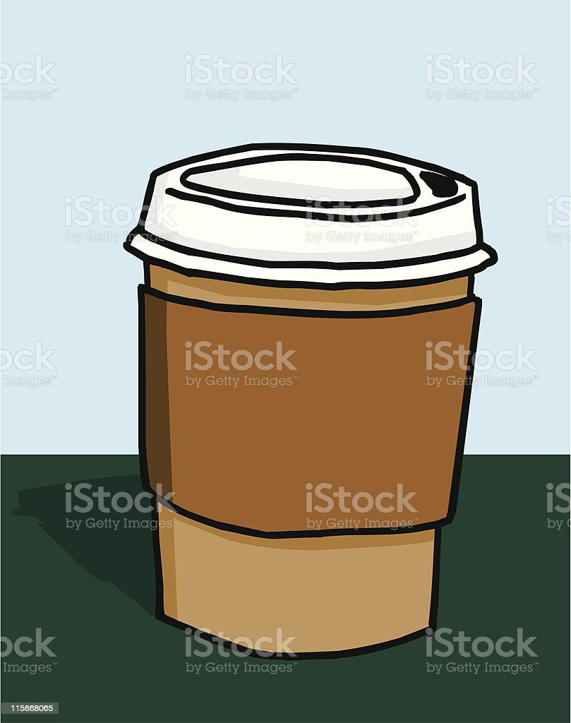 To Go Cup royalty-free stock vector art