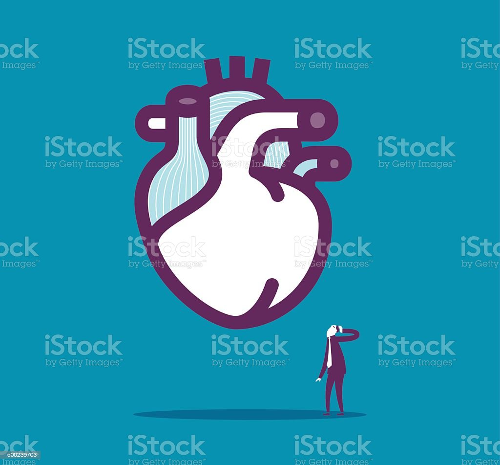 To know the heart vector art illustration