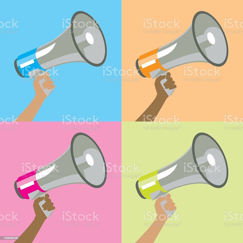 to make ones voice heard royalty-free stock vector art