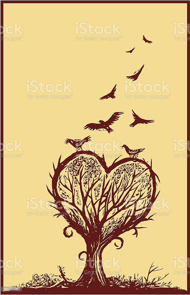 To The Birds vector art illustration