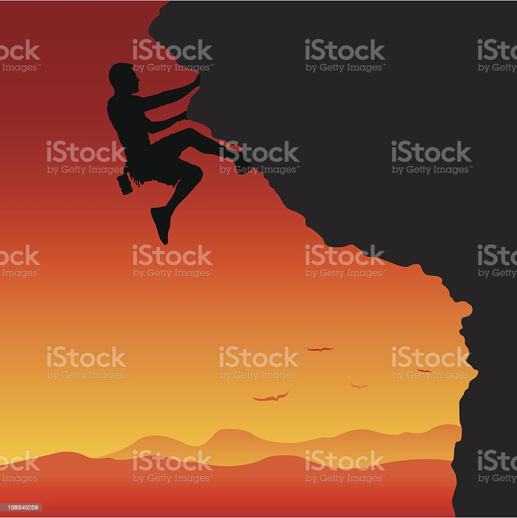 To the top vector art illustration