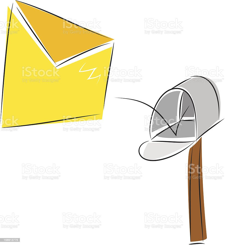To you the letter! royalty-free stock vector art