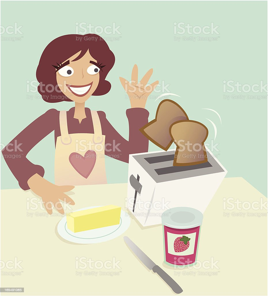 Toast and Jam royalty-free stock vector art