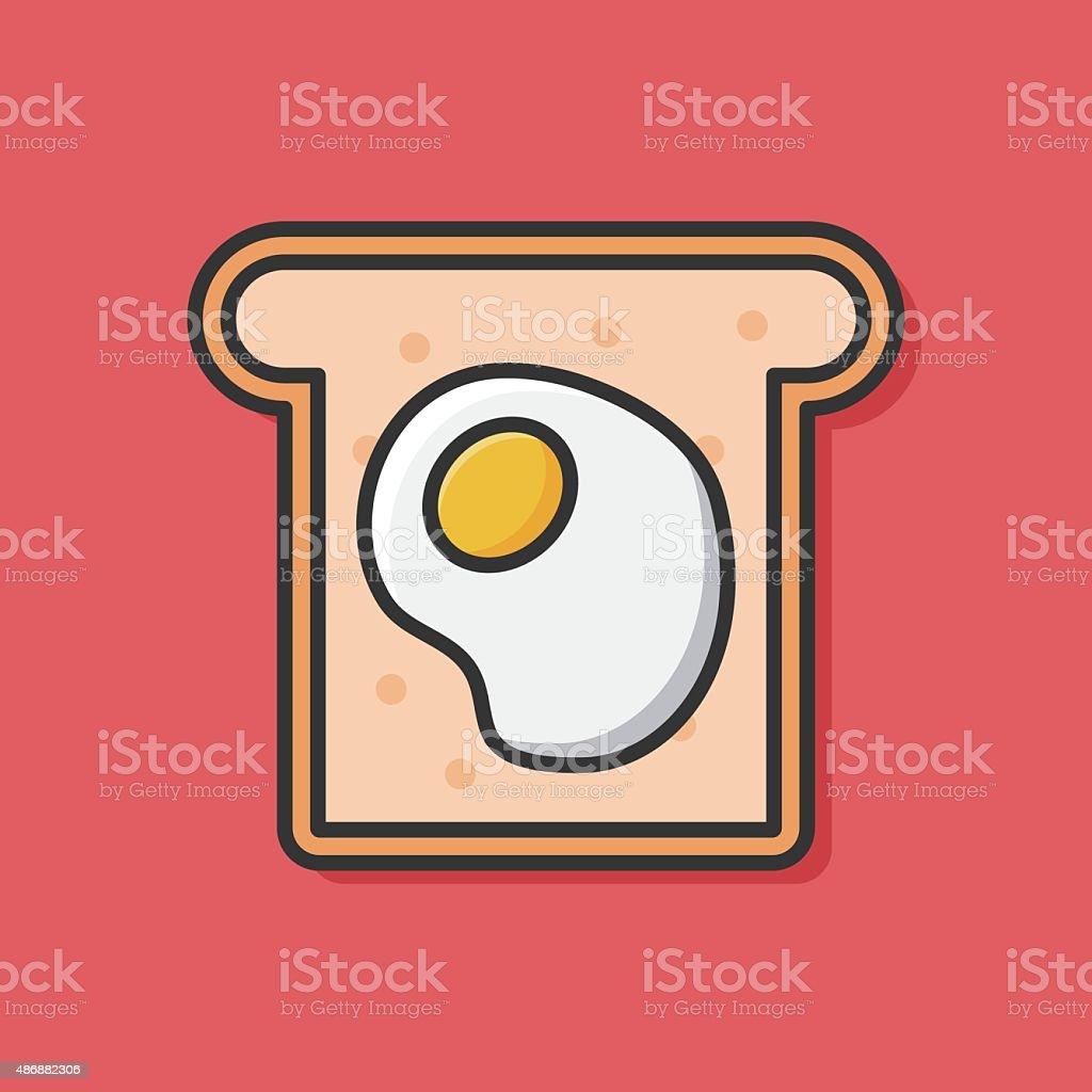 toast icon vector art illustration
