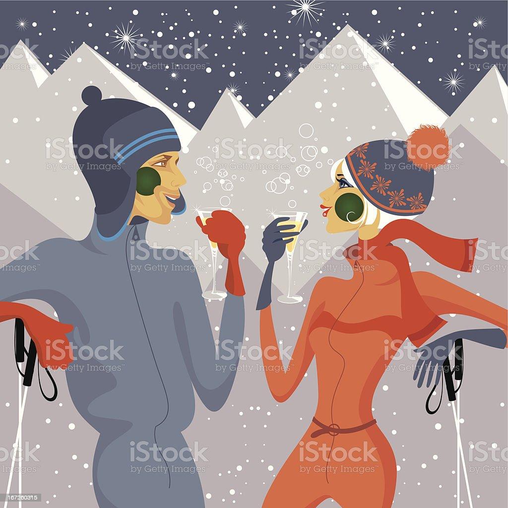Toast on a slope. vector art illustration
