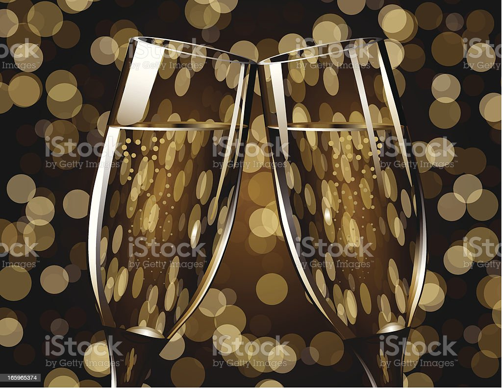 Toast to a New Year vector art illustration