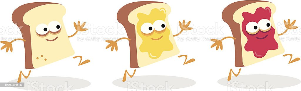 Toast vector art illustration