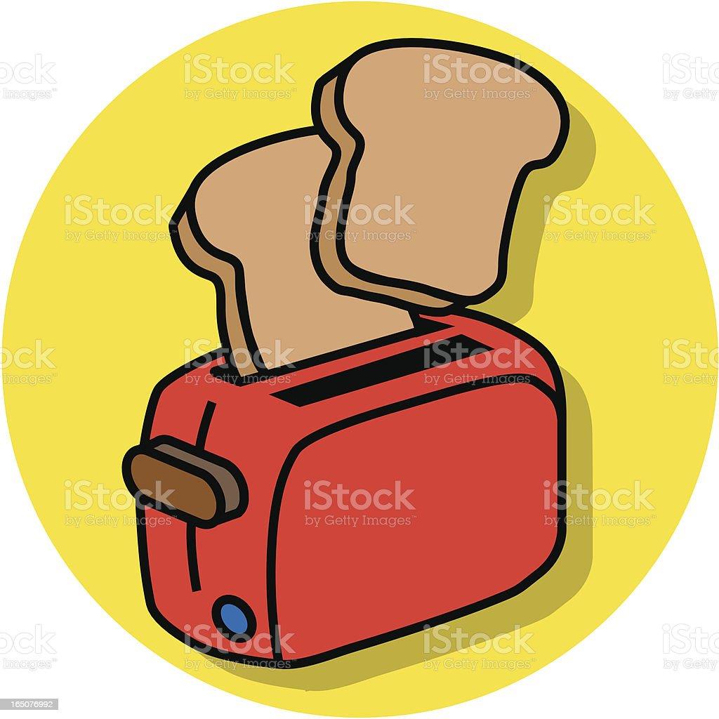 toast vector art illustration