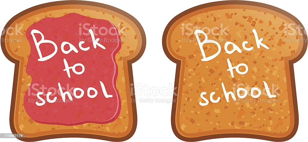 Toast with jam. Back to School royalty-free stock vector art