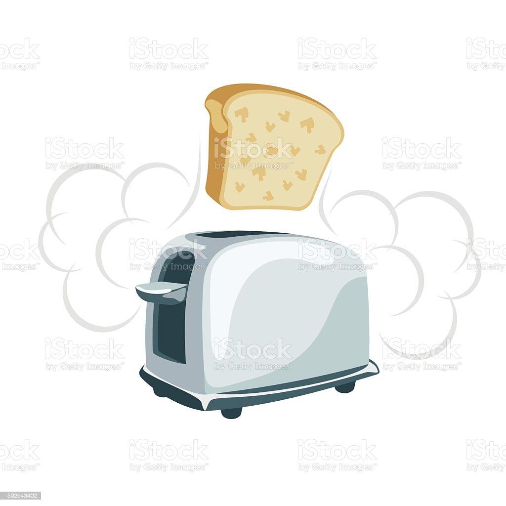Toaster cartoonish illustration vector art illustration