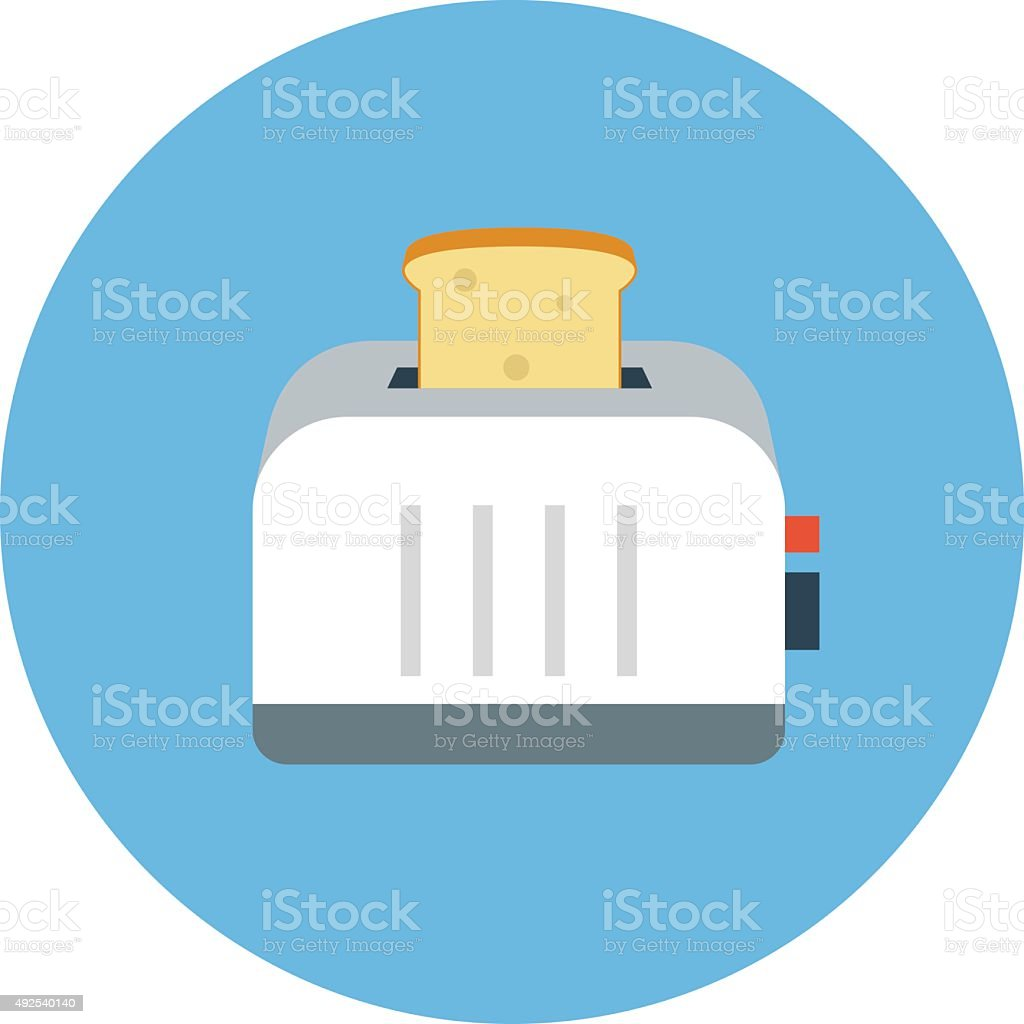 Toaster Colored Vector Icon vector art illustration